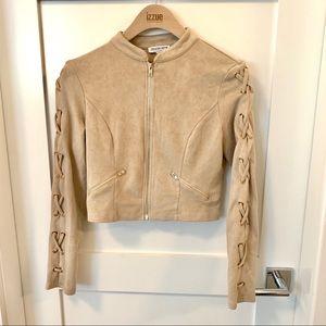 Jackets & Blazers - Fashion Nova Suede Cropped Jacket
